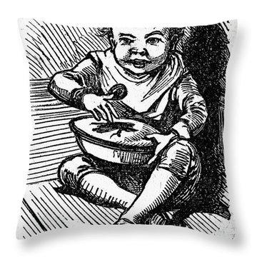 Little Jack Horner Throw Pillow by Granger