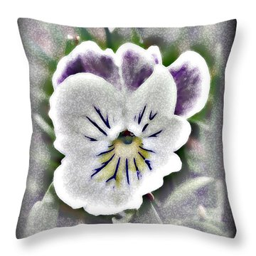 Little Pansy Throw Pillow