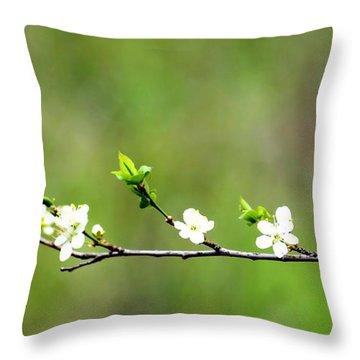 Little Petals Throw Pillow