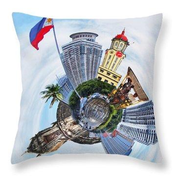 Little Planet - Manila Throw Pillow by Yhun Suarez