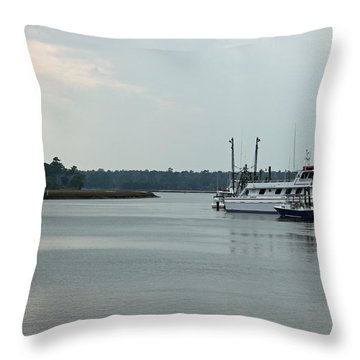Little River Scenic Iv Throw Pillow by Suzanne Gaff