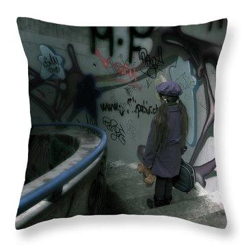 Little Runaway Throw Pillow by Joana Kruse