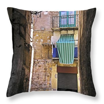 Little Street Of Palermo Throw Pillow