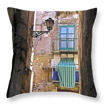 Little Street Of Palermo Throw Pillow