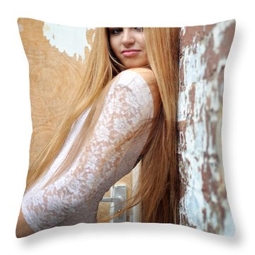 Liuda11 Throw Pillow by Yhun Suarez