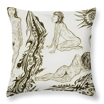 Live Nude 17 Female Throw Pillow