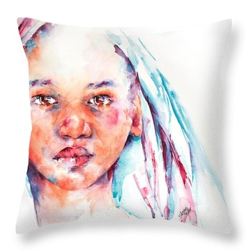 Live To Dream ... Children Of The World Throw Pillow by Stephie Butler