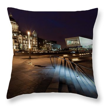 Liverpool - The Old And The New  Throw Pillow