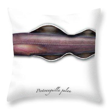 Living Fossil Eel - Protoanguilla Palau - Isle Of Palau Throw Pillow