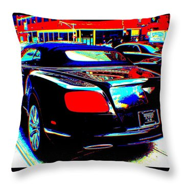 Living  In A Movie Throw Pillow by Rogerio Mariani