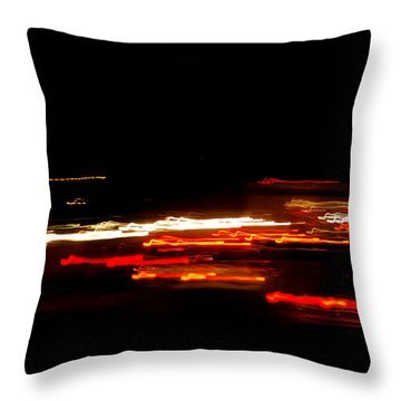 Living In Fast Forward Throw Pillow by Maggy Marsh