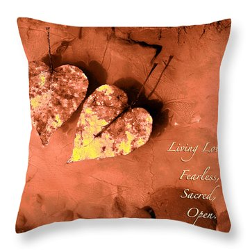 Living Love Throw Pillow