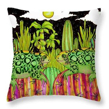 Lizards In Love Throw Pillow by Dede Shamel Davalos