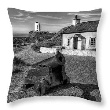 Llanddwyn Cannon V2 Throw Pillow by Adrian Evans