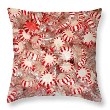 Fun  Mints Throw Pillow