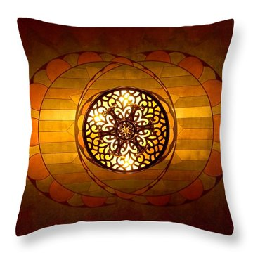 Lobby Lighting Throw Pillow by Accent on Photography