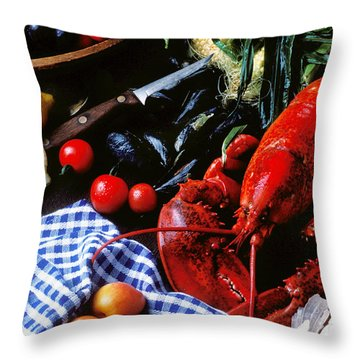 Lobster Throw Pillow by Garry Gay