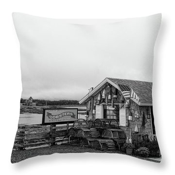 Lobster House Bw Throw Pillow