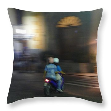 Throw Pillow featuring the photograph Local Transportation by Nora Boghossian