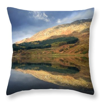 Loch Lobhair, Scotland Throw Pillow