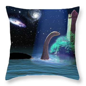 Loch Ness 2 Throw Pillow