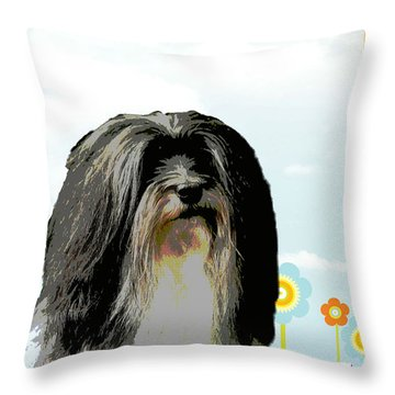 Lochen Throw Pillow by One Rude Dawg Orcutt