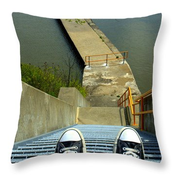 Lock E5 Stairway Throw Pillow by Bruce Carpenter