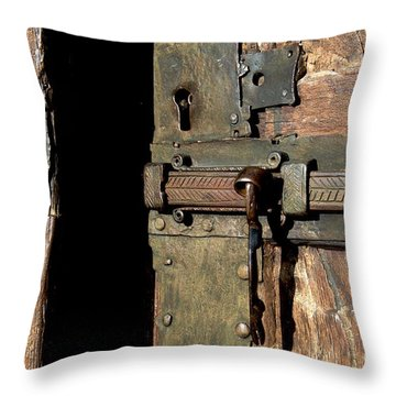 Lock Of Church. France Throw Pillow by Bernard Jaubert