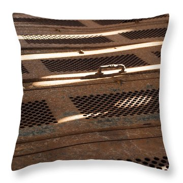 Throw Pillow featuring the photograph Lock Of Time by Fran Riley