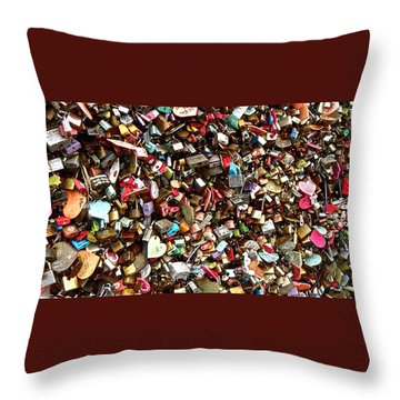 Throw Pillow featuring the photograph Locks Of Love by Kume Bryant
