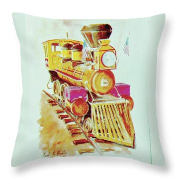 Locomotive Throw Pillow by Frank Hunter