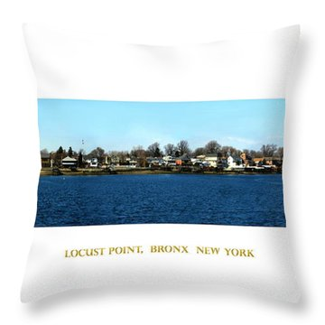 Locust Point Bronx New York Throw Pillow