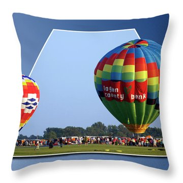 Logan County Bank Balloon 05 Throw Pillow by Thomas Woolworth