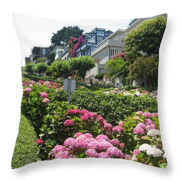 Lombard Street Throw Pillow by Dany Lison