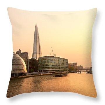 London At Dusk Throw Pillow by Svetlana Sewell