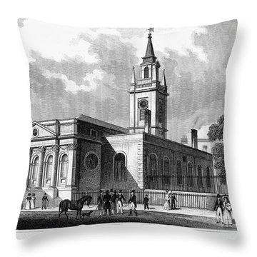 London: Church, C1830 Throw Pillow by Granger
