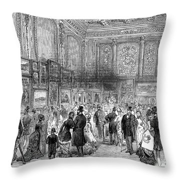 London: Exhibition, 1880 Throw Pillow by Granger