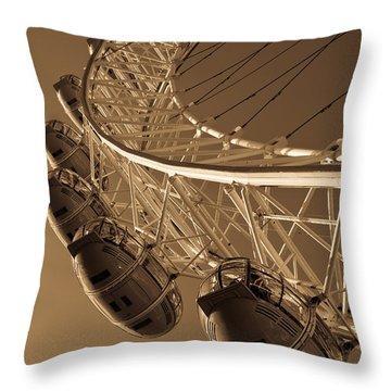 London Eye Image Throw Pillow
