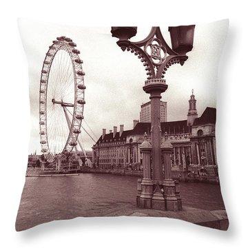 London Eye Throw Pillow by Kathy Yates
