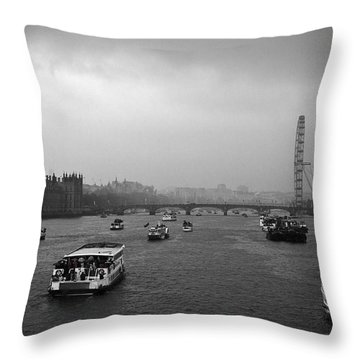 Throw Pillow featuring the photograph London Jubilee 2012 by Lenny Carter