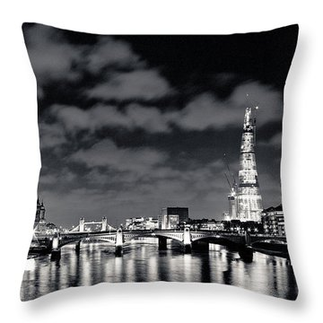 London Lights At Night Throw Pillow