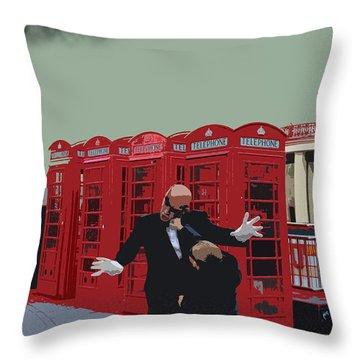 London Matrix Punching Mr Smith Throw Pillow by Jasna Buncic