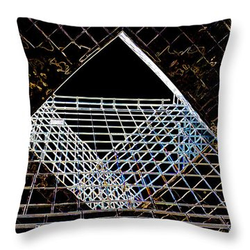 London Southbank Abstract Throw Pillow by David Pyatt