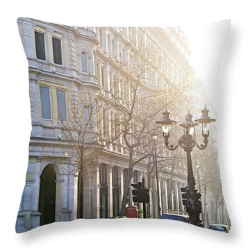 London Street Throw Pillow by Elena Elisseeva