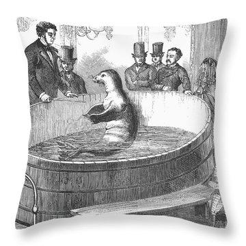 London: Talking Fish, 1859 Throw Pillow by Granger