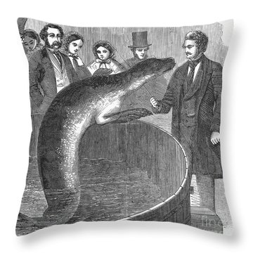 London: Talking Fish Throw Pillow by Granger