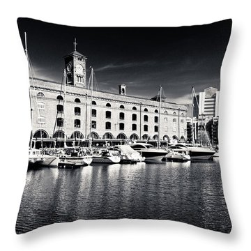 Throw Pillow featuring the photograph London Yachts by Lenny Carter