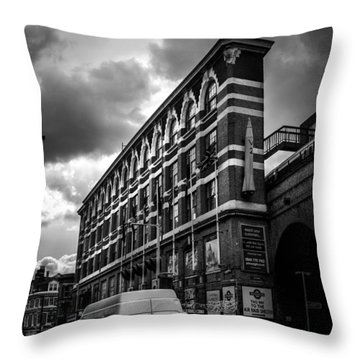 London's Flat Iron Throw Pillow by Lenny Carter
