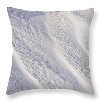Lone Tree On Mount Hood In Winter Mount Throw Pillow by Craig Tuttle