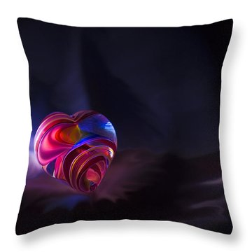 Lonely Heart Throw Pillow by Steven Richardson